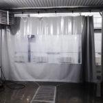 Шторы в автомойку с прозрачным окном
