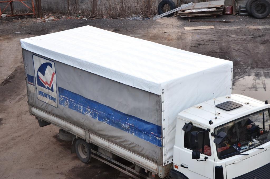 Тент-крыша на грузовик «МАЗ»