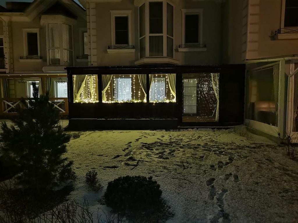 Мягкие окна для зимней веранды таунхауса
